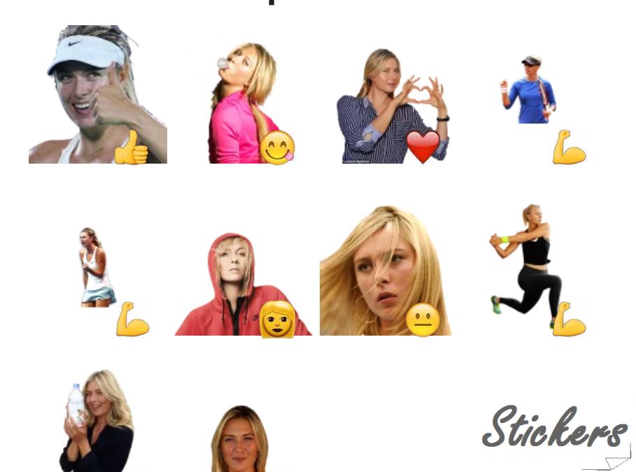 Maria Sharapova Telegram sticker set
