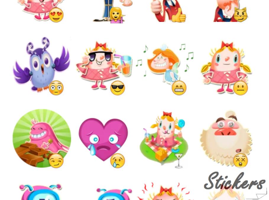 candy crush Telegram sticker set