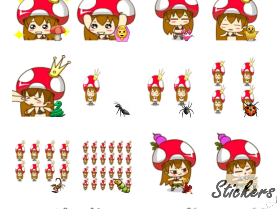 Mushroom Girl Telegram sticker set