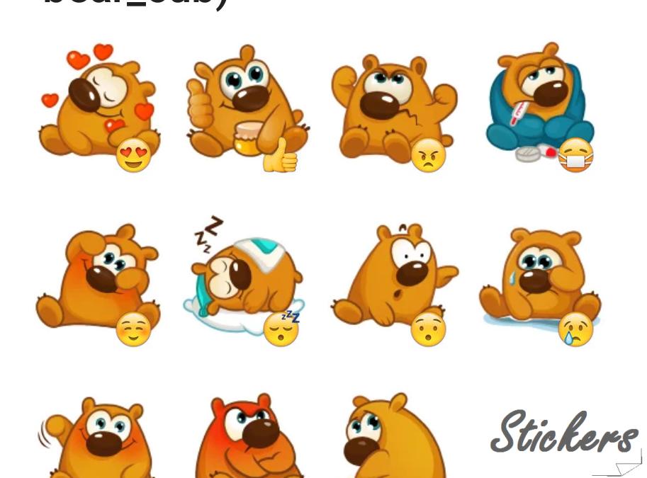 bear_cub) Telegram sticker set
