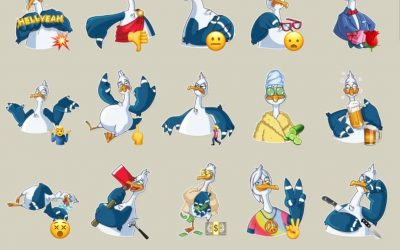 Mr. Gull Telegram stickers set